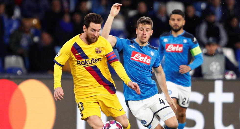 Barcelona vs Napoli, octavos de final ida de Champions League