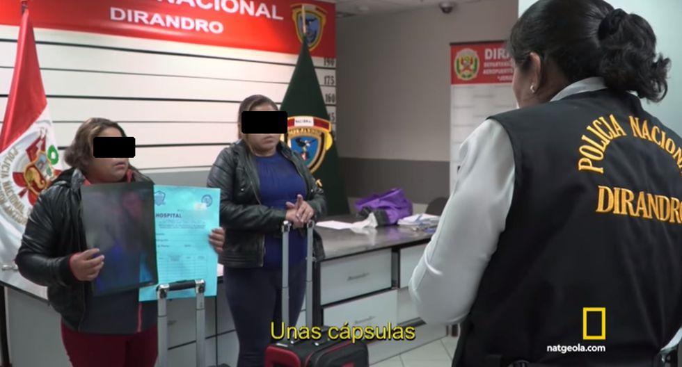 Alerta Aeropuerto, el programa de la National Geographic que muestra cómo los narcotraficantes usan diversas modalidades para trasladar droga a otros países. (Fotos: Captura video / Alerta Aeropuerto)