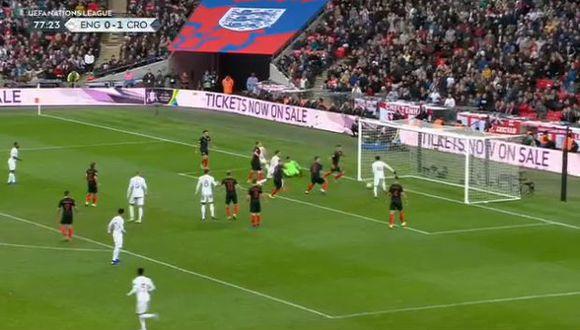 Inglaterra vs Croacia: Gol de Lingard