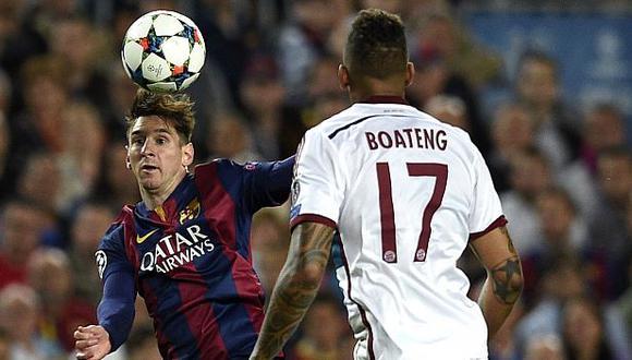 Messi le 'rompió' la cintura a Boateng en semifinales de la Champions League 2014-15. (Foto: AFP)