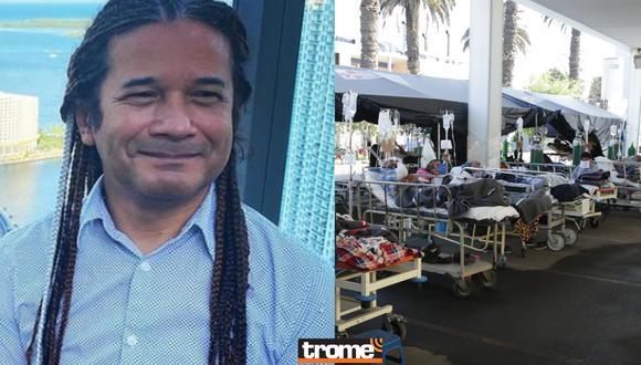 Reinaldo Dos Santos en polémica por ofensivo mensaje sobre las camas UCI