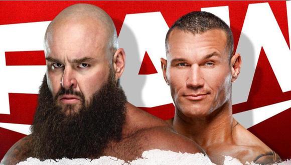 Braun Strowman vs. Randy Orton en Monday Nigth RAW. (WWE)