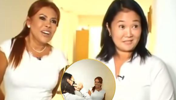 Hijas de Keiko Fujimori se mostraron incómodas en entrevista con Magaly