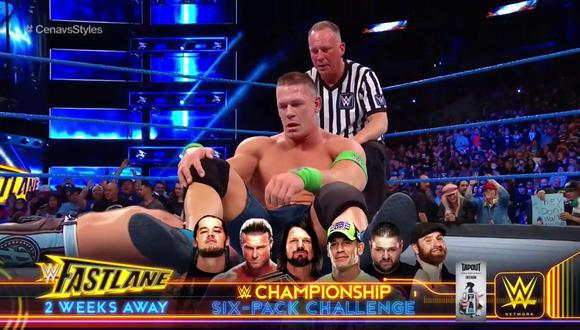 Cena frenó su mala racha. (WWE)