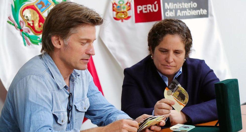 Nikolaj Coster-Waldau visitó el ministerio del Ambiente. (Foto: Ministerio del Ambiente)