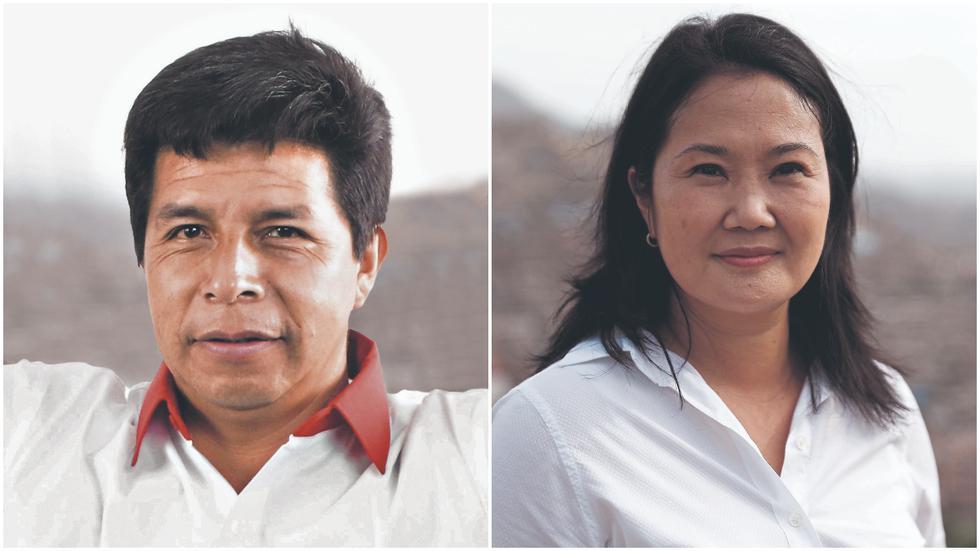 Según la última encuesta de Datum, Pedro Castillo obtiene 44% de votos y Keiko Fujimori se ubica con 34%.