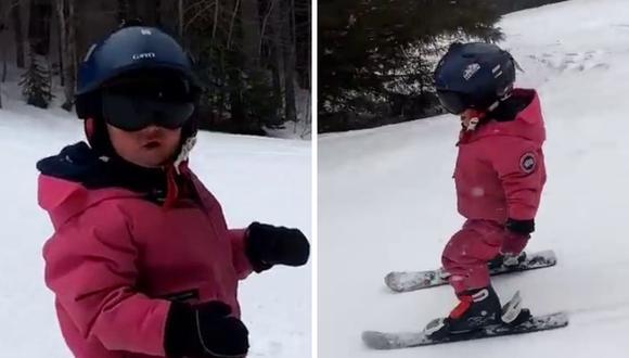 Adia Leidums es una gran esquiadora a sus dos años. (Foto: That Mountain Life | YouTube)