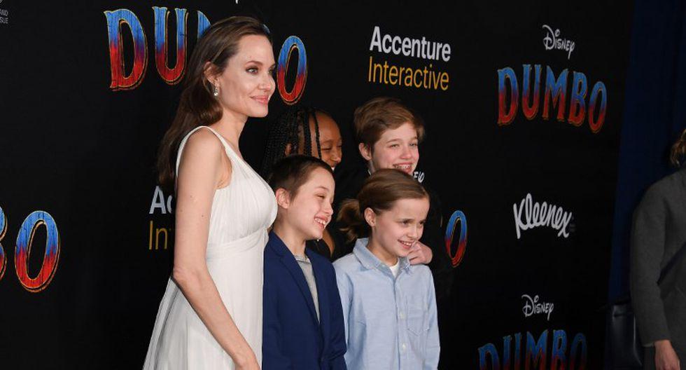 """""""Dumbo"""": Angelina Jolie asiste a la premiere junto a sus hijos (Foto: AFP)"""