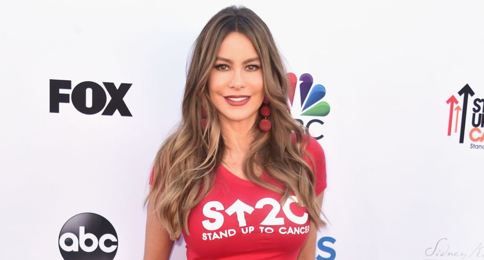 SANTA MONICA, CA - SEPTEMBER 07: Sofia Vergara attends the sixth biennial Stand Up To Cancer (SU2C) telecast at the Barkar Hangar on Friday, September 7, 2018 in Santa Monica, California.   Alberto E. Rodriguez/Getty Images for Stand Up To Cancer/AFP