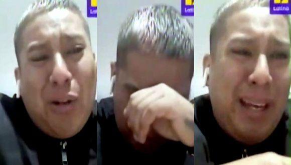Luis Caycho se quiebra en vivo desde España en medio de crisis por coronavirus | TROME
