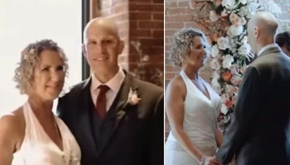 Un hombre con Alzhéimer le propuso matrimonio a su esposa al no recordar que ya estaban casados. (Foto: NBC New York / YouTube)