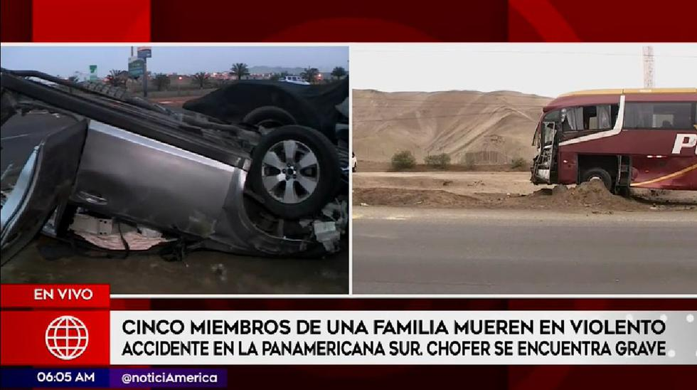 Terrible accidente de tránsito provocó la muerte de cinco integrantes de una familia.