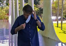 Bolsonaro será denunciado por sacarse la mascarilla frente a periodistas | VIDEO