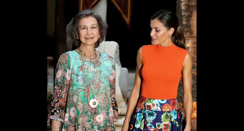 Reina Letizia y Doña Sofía