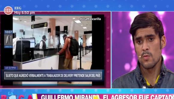 Junior Ramírez afirmó que él no es quien para pronunciarse sobre el presunto intentó de salida del país de Guillermo Miranda. (En Boca de Todos/América)
