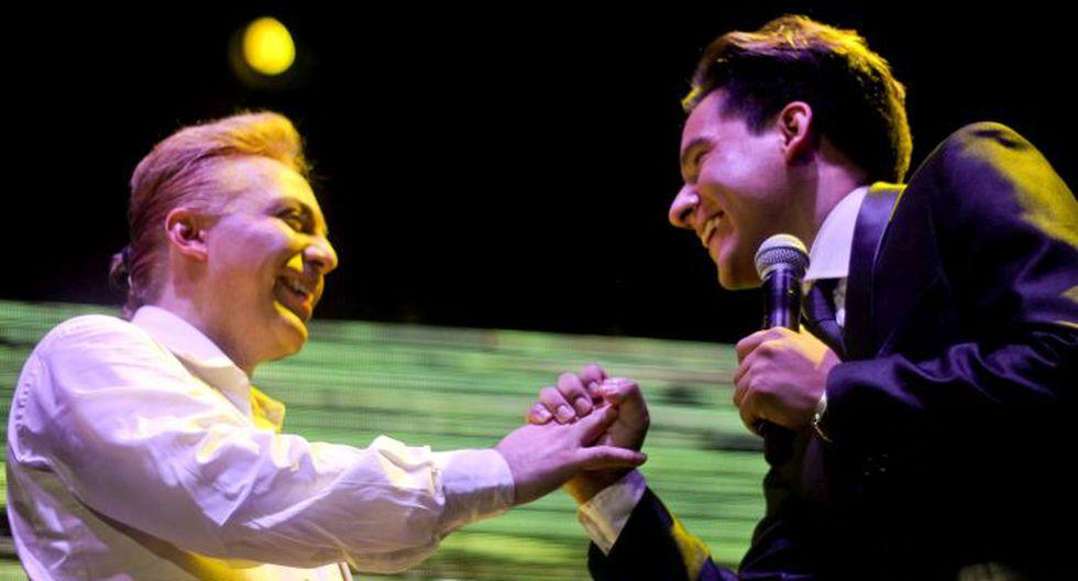 Cristian Castro cantó junto al imitador de Yo Soy, Daniel Rioja