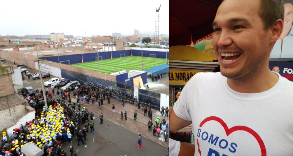 George Forsyth nuevo alcalde de La Victoria anunció esta medida  con explanada de Estadio de Alianza Lima.