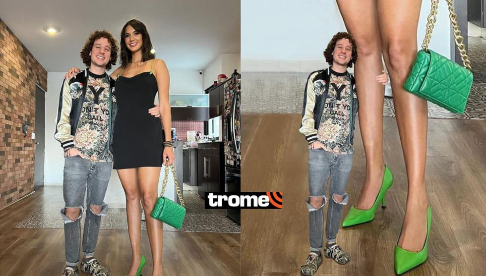 Luisito Comunica publica foto con su novia Ary Tenorio y le hacen memes por su altura (Foto: Trome /Facebook)