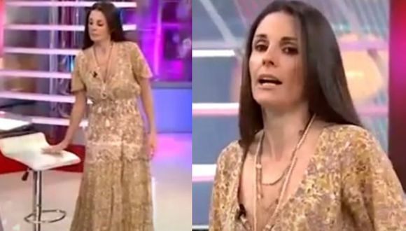 Rebeca Escribens sufre accidente EN VIVO mientras le pedía disculpas a Ignacio Baladán