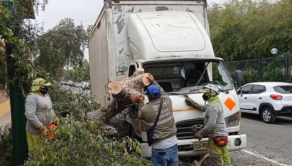 El accidente no tuvo víctimas que lamentar. (Municipalidad de Surco)