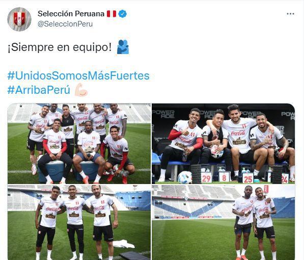 El post de la selección peruana en Argentina. (Foto: Twitter de la selección peruana)