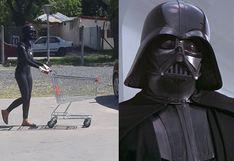 Mujer se puso el casco de Darth Vader 'para protegerse' del coronavirus en Argentina