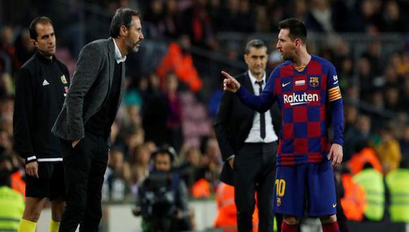 Lionel Messi discutió con DT de Mallorca. (Agencias)