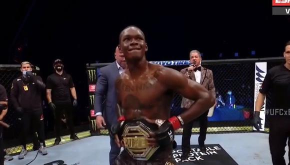 Israel Adesanya se consolida como una de las figuras más importantes de UFC. (Captura ESPN)