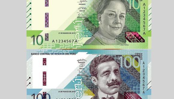 Los nuevos billetes de S/ 10 y S/ 100 fueron diseñados por la empresa inglesa De La Rue International Limited, indicó el BCR. (Fotos: BCR)