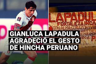 Gianluca Lapadula compartió en redes un detalle que le dedicó hincha peruano