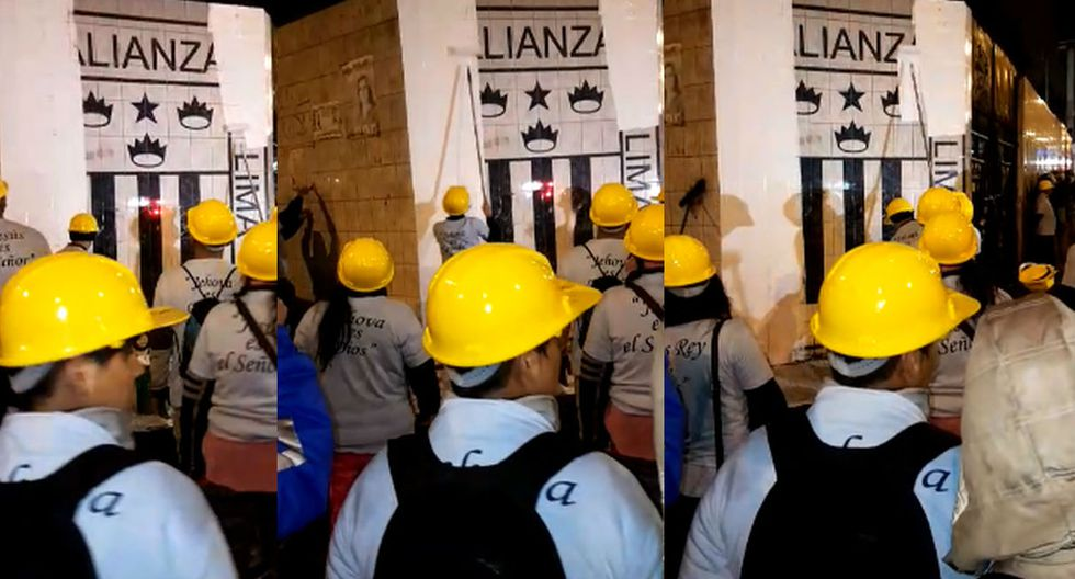 Evangélicos pintaron escudo de Alianza Lima y desataron la ira de los hinchas.
