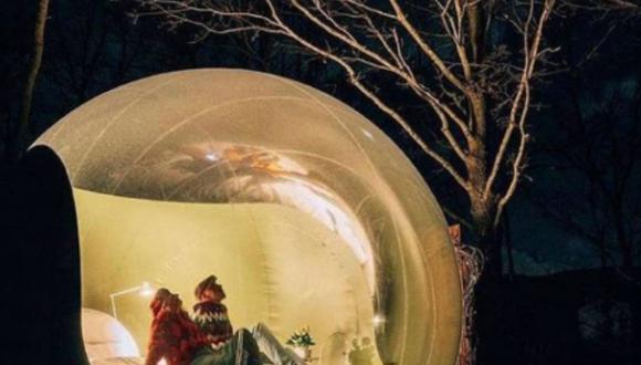 El primer hotel burbuja que estará en Calango.