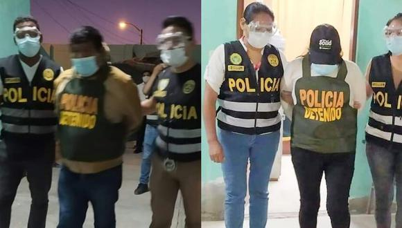 Jorge Aniceto Paco Cabrera y Nancy Marisol Mamani Huayhua continuarán recluidos en un centro penitenciario para las investigaciones (Foto: PNP)