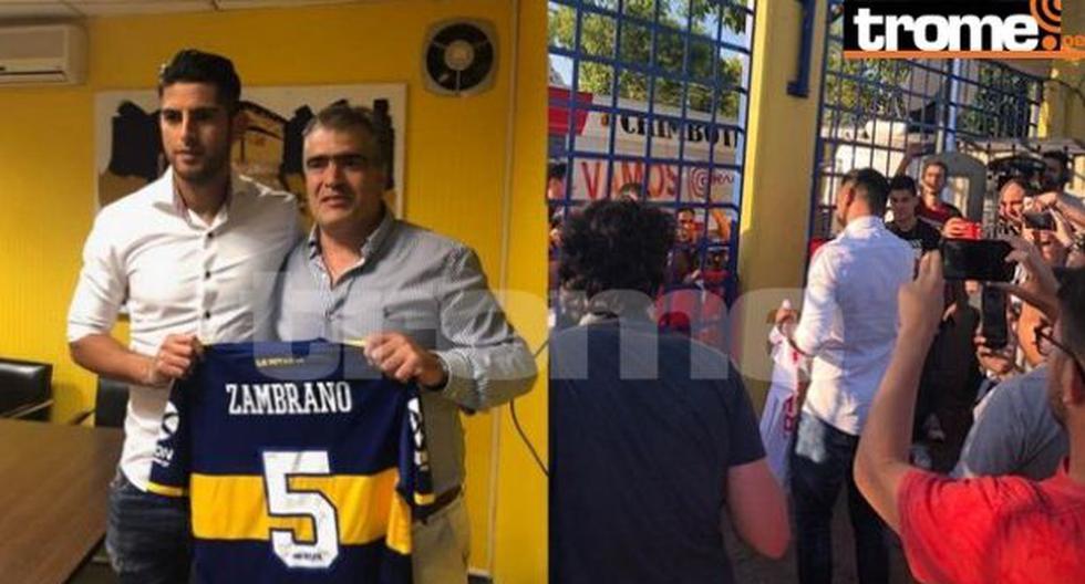 Carlos Zambrano fue recibido por hinchas peruanos tras firmar por Boca Juniors. (Foto: Trome)