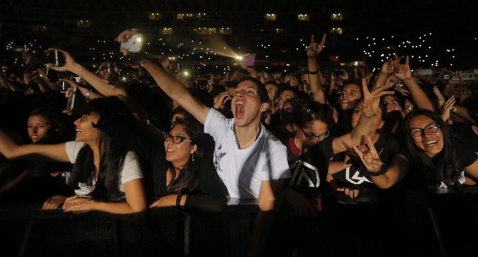 Cantante de Linkin Park, Chester Bennington y el último concierto que dio en el Perú ante miles de fanáticos peruanos. (Fotos: Trome)