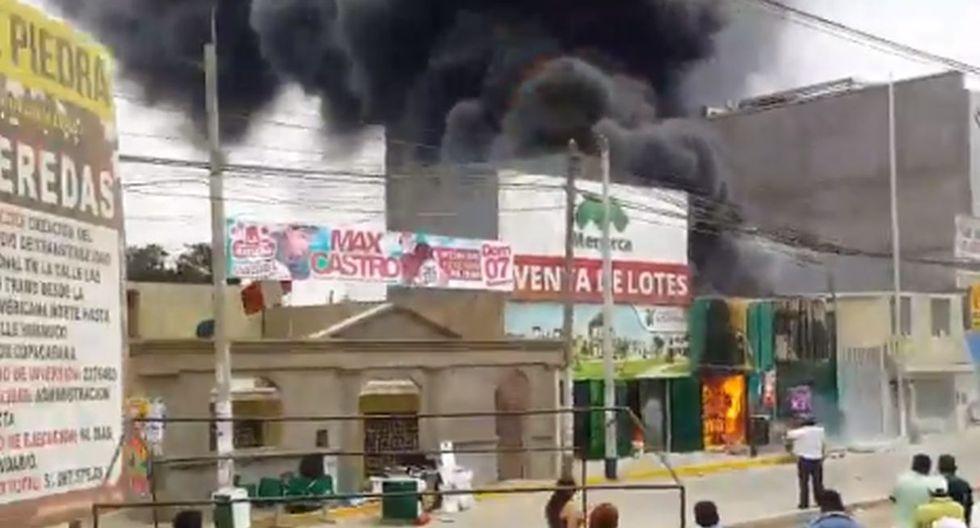 Incendio en Puente Piedra. Video: Canal N