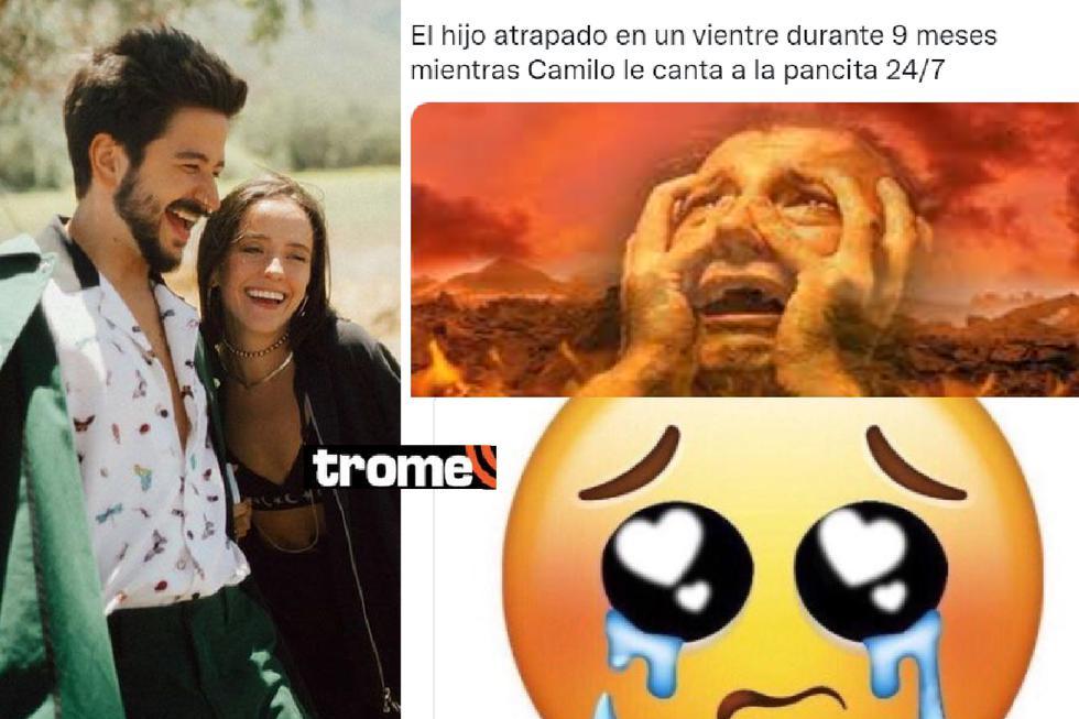 Evaluna Montaner y Camilo anunciaron que se convertirán en padres y los memes estallaron. Ambos estrenaron su videoclip 'Índigo' donde confirman la noticia. Foto: Twitter