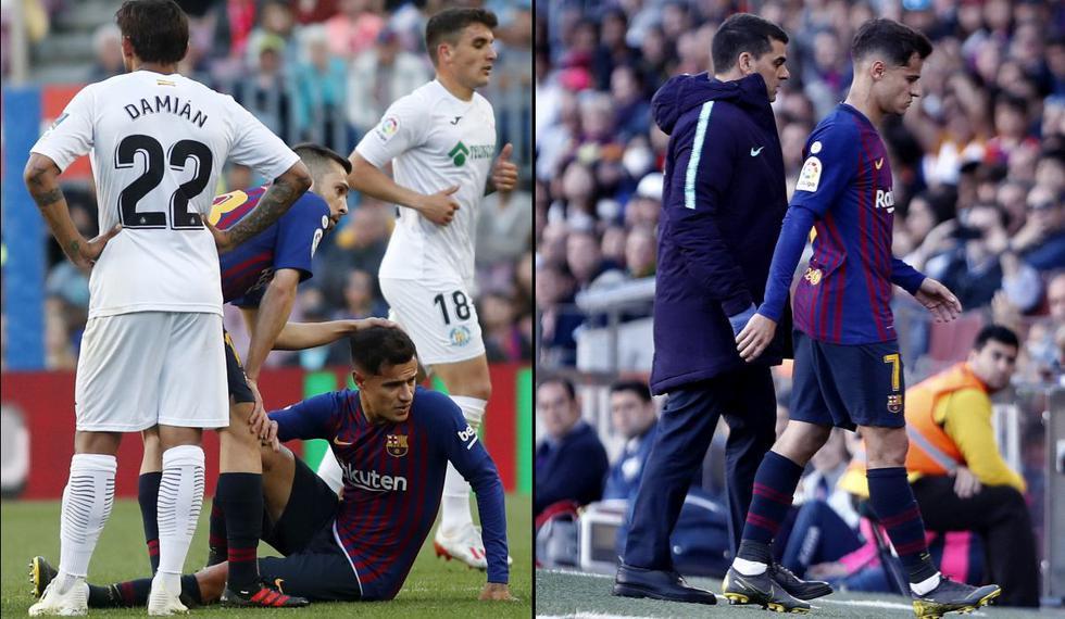 Barcelona: Philipe Coutinho se lesionó ¿Se pierde la final de la Copa del Rey ante Valencia?