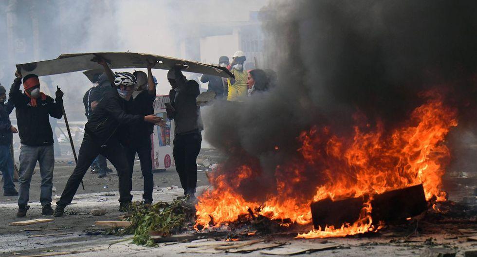 Violentos enfrentamientos se registran en nueva jornada de protestas en Ecuador. (Foto: AFP)