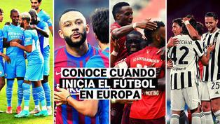 Todo sobre el inicio del fútbol en las principales ligas europeas