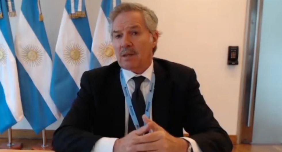 Felipe Solá hizo referencia a que Manuel Merino será el presidente interino y que alrededor del 28 de julio próximo, cuando vence el mandato presidencial actual, se deberá haber estabilizado la situación. (Captura de video/YouTube).
