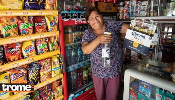 Marcelina Quiñones inauguró su bodega 'Gabrielito' en San Juan de Lurigancho. (Foto: Trome)