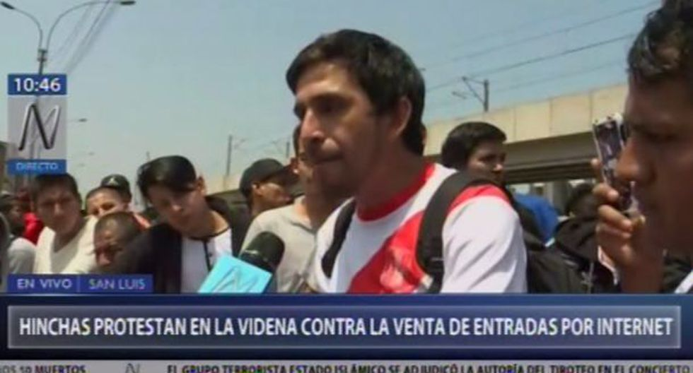 Hinchas de la selección peruana