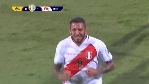 Gol de Sergio Peña para 1-0 en Perú vs Colombia por Copa América 2021.