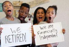 Padres de familia juntaron más de 2 millones de dólares ahorrando 8 años y se jubilan a los 40 años