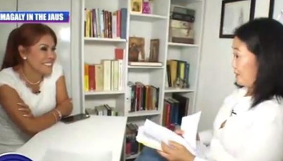 Keiko Fujimori recordó lo más duro que pasó en prisión, en entrevista con Magaly Medina. (Captura Magaly TV, la firme)