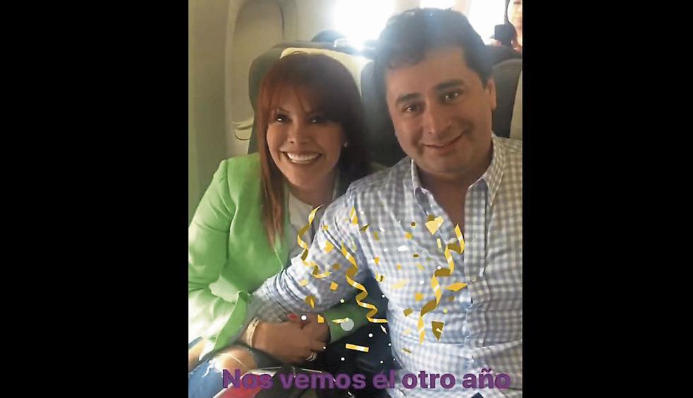 Magaly Medina voló a Dubái con su esposo.