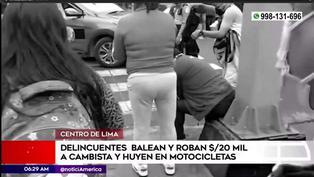 Cercado de Lima: ladrones balean y roban 20 mil dólares a cambista