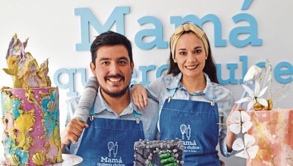 Claudia Morales y Renato Pereyra fundaron 'Mamá quiero dulce'. (Foto: Trome)