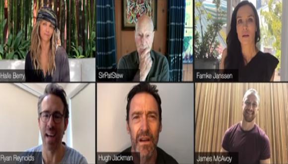 Ryan Reynolds se sumó a una reunión virtual que tuvo el elenco de X-Men. (Foto: Captura YouTube)